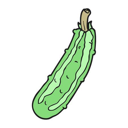 zucchini: freehand drawn cartoon zucchini