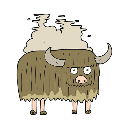 smelly: freehand drawn cartoon smelly cow Illustration