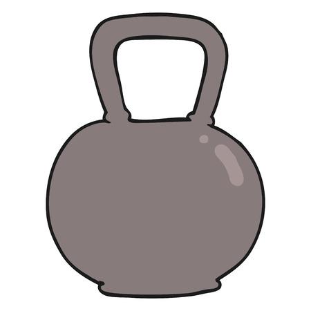 kettle bell: freehand drawn cartoon 40kg kettle bell weight
