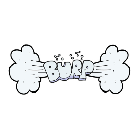 belch: freehand drawn cartoon burp symbol