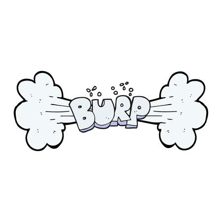 burp: freehand drawn cartoon burp symbol