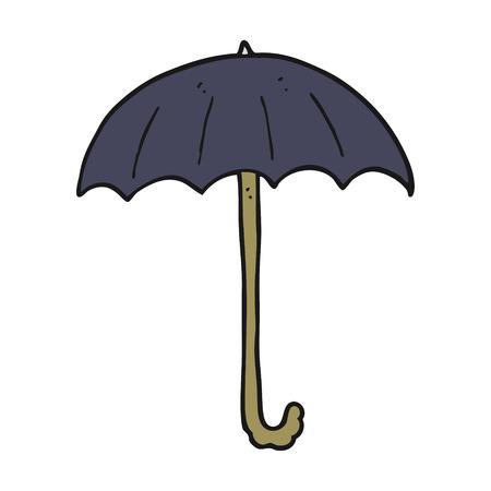 cartoon umbrella: freehand drawn cartoon umbrella