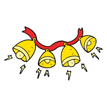 jingle bells: freehand drawn cartoon jingle bells Illustration