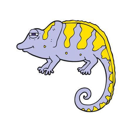 chameleon: freehand drawn cartoon chameleon