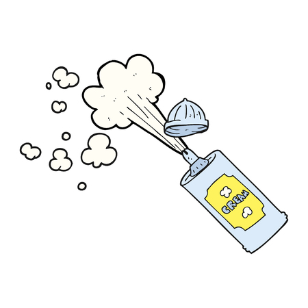 whipped cream: freehand drawn cartoon squirting whipped cream Illustration