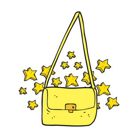 expensive: freehand drawn cartoon expensive handbag