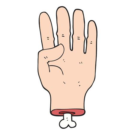 severed: freehand drawn cartoon hand