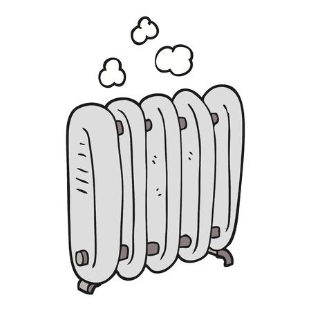 freehand drawn cartoon radiator