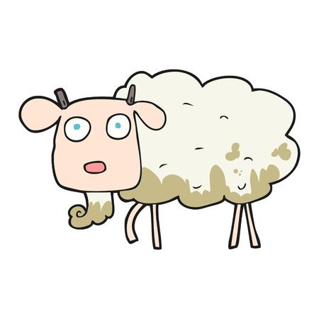 muddy: freehand drawn cartoon muddy goat