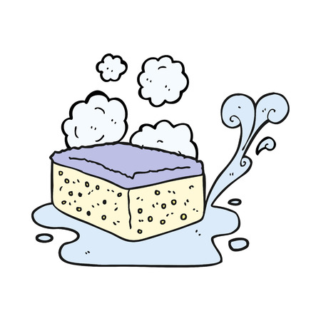 freehand drawn cartoon sponge Vektoros illusztráció