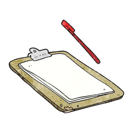 clip board: freehand textured cartoon clip board