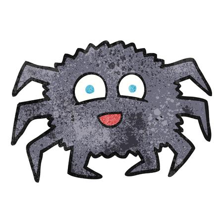 textured: freehand textured cartoon spider