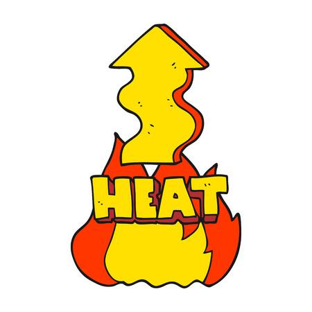 a mano libera dei cartoni animati disegnati lievitazione di calore Vettoriali