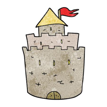 textured: freehand textured cartoon castle
