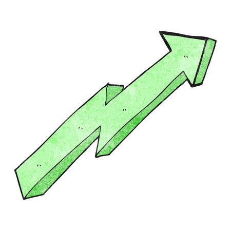 trend: freehand textured cartoon arrow up trend Illustration