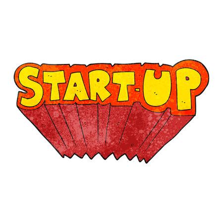 startup: freehand textured cartoon startup symbol Illustration