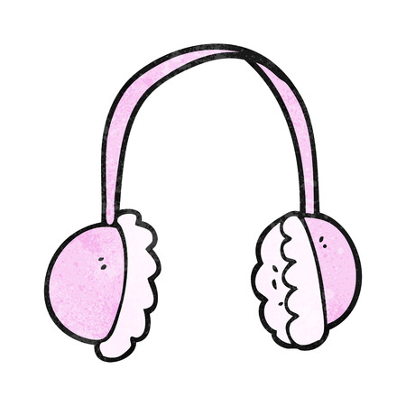 ear muffs: freehand textured cartoon ear muffs