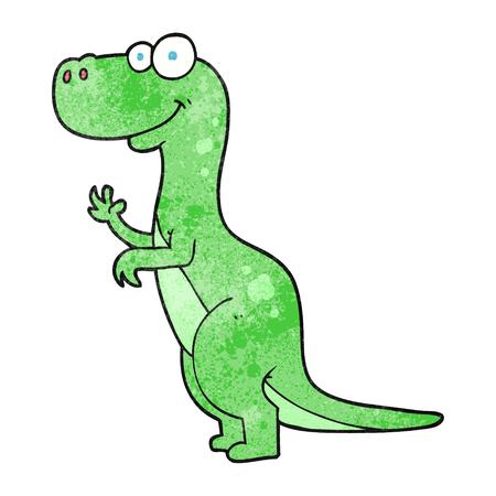 textured: freehand textured cartoon dinosaur Illustration