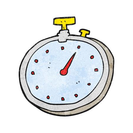 textured: freehand textured cartoon stopwatch