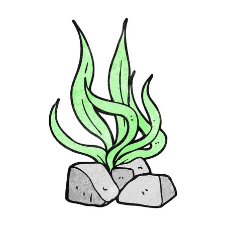 textured: freehand textured cartoon seaweed Illustration