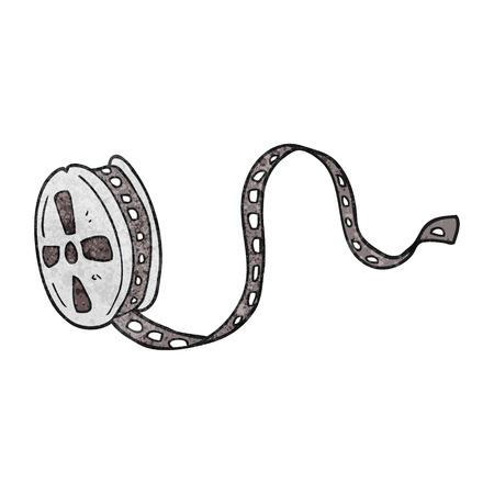 movie film: freehand textured cartoon movie film