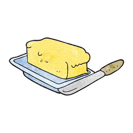 uit de vrije hand geweven cartoon boter