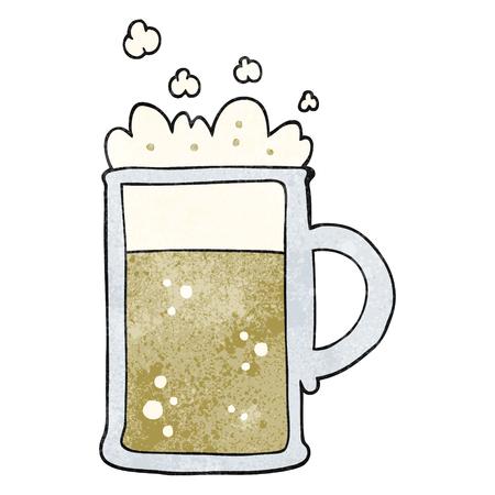 tankard: freehand textured cartoon tankard of beer