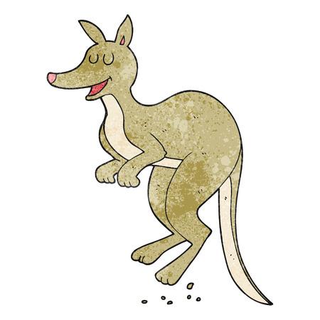 textured: freehand textured cartoon kangaroo Illustration