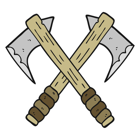 axes: freehand drawn cartoon axes Illustration