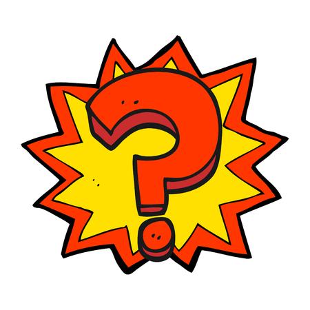 freehand drawn cartoon question mark
