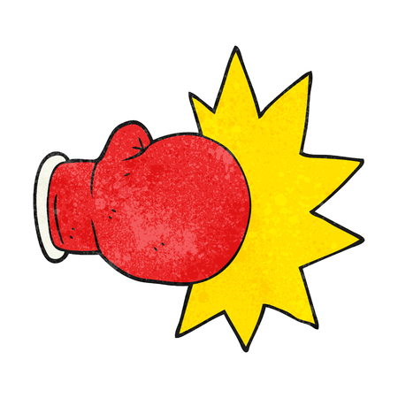 boxing glove: freehand textured cartoon boxing glove
