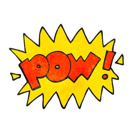 pow: freehand textured cartoon pow symbol