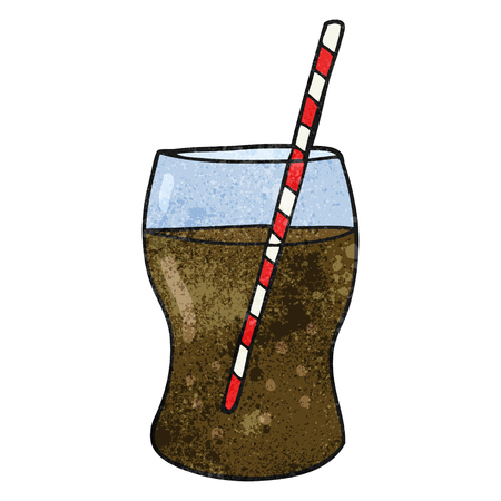 fizzy: freehand textured cartoon fizzy drink