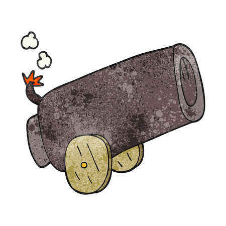 cannon: freehand textured cartoon cannon Illustration