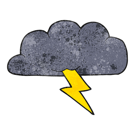 thundercloud: freehand textured cartoon thundercloud