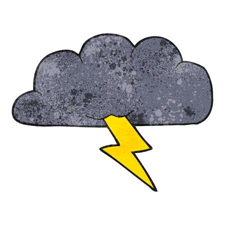 stormcloud: freehand textured cartoon thundercloud