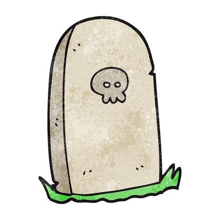 freehand textured cartoon grave Illustration
