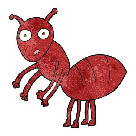 cartoon ant: freehand textured cartoon ant