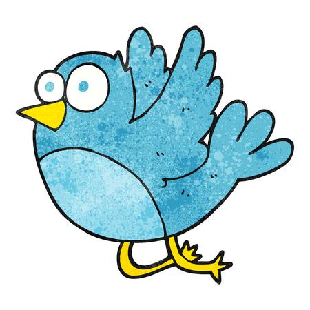textured: freehand textured cartoon bird