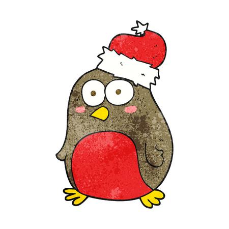 robin: freehand textured cartoon robin