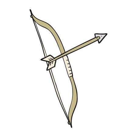 longbow: freehand drawn cartoon bow and arrow
