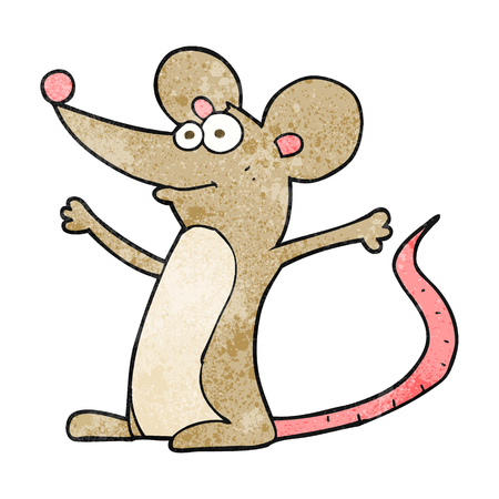 textured: freehand textured cartoon mouse