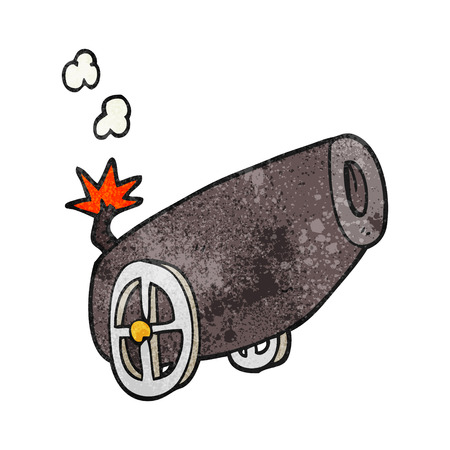 a cannon: freehand textured cartoon cannon Illustration