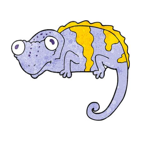 textured: freehand textured cartoon chameleon