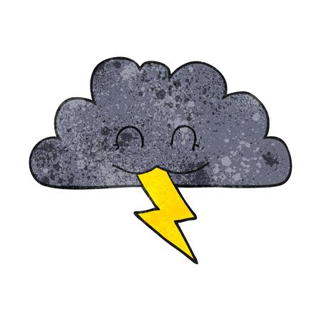 storm cloud: freehand textured cartoon storm cloud