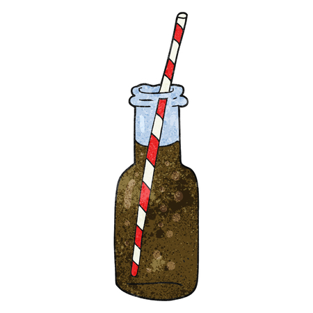 fizzy: freehand textured cartoon fizzy drink bottle