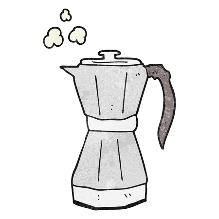 stovetop: freehand textured cartoon stovetop espresso maker