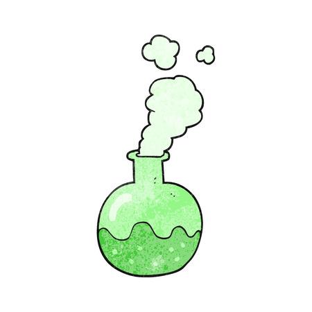 a mano alzada reacción química de dibujos animados con textura Ilustración de vector