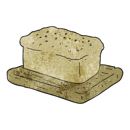 loaf: freehand textured cartoon loaf of bread