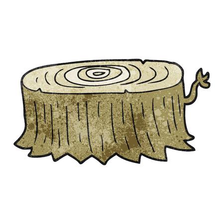 tree stump: freehand textured cartoon tree stump